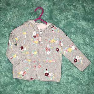 NWOT   Carter's   12 M   Flower print, gray jacket